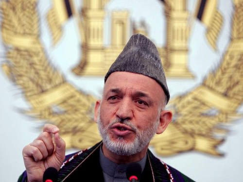 Hamid Karzai - Backs US strategy