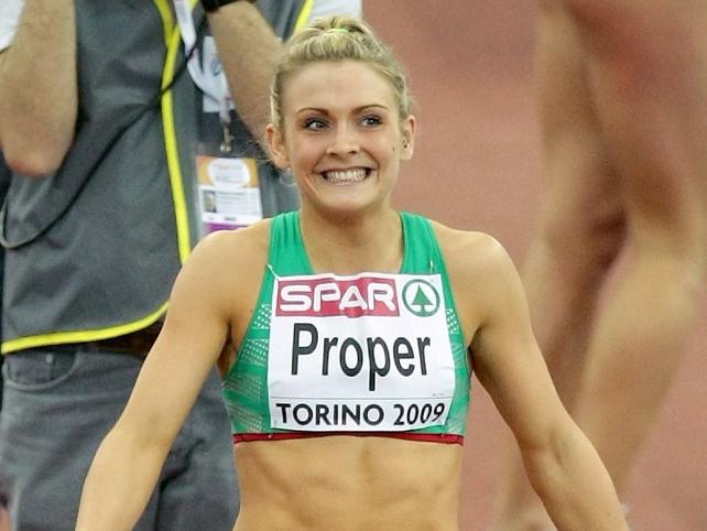 Kelly Proper was broke an Irish record