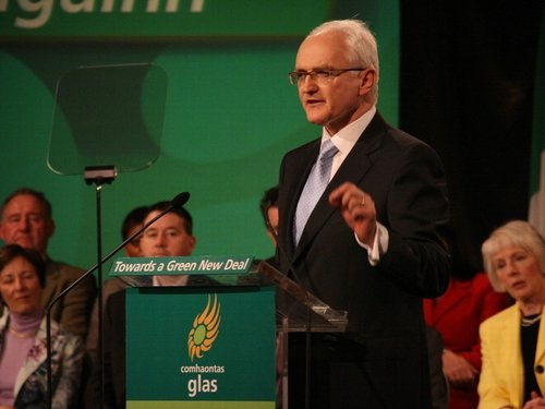 John Gormley - Closing remarks to conference(Pic: Green Party)