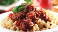 Classic Italian Meatballs, Spaghetti & Tomato Sauce - A filling meal that's simple to make.