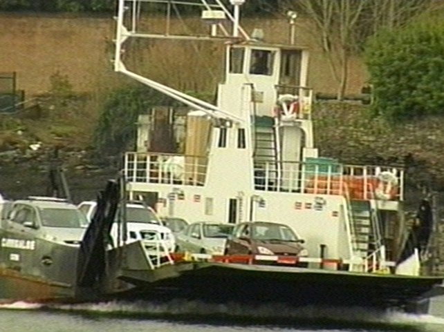 Cork harbour - Car slipped off ferry