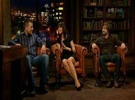 Dara O'Cinneide, Aoibhinn N� Sh�illeabh�in and Paddy Courtney