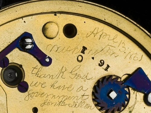 Lincoln watch - Secret message