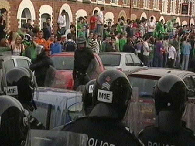 Belfast - St Patrick's Day clashes