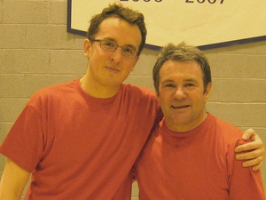 Ray Houghton meets broadcasting legend Damien O'Meara