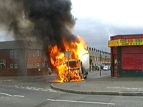 Belfast - Security alerts brought traffic chaos last night