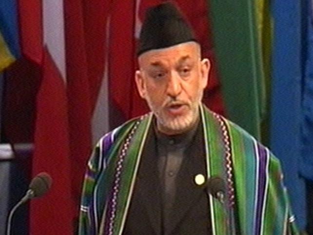 Hamid Karzai - Extends lead
