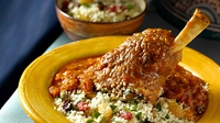 Moroccan Style Braised Lamb Shanks - A fragrant and tasty dish.