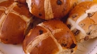 Spiced Hot Cross Buns with Orange and Cardamom Glaze - An Easter favourite!