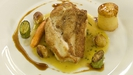 Free range chicken with fondant potato, glazed shallots and a tarragon veloutè