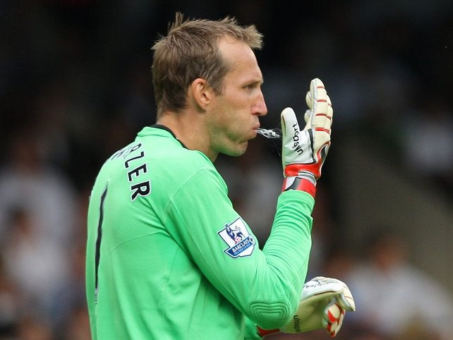 Mark Schwarzer had a busy night in the Fulham goal