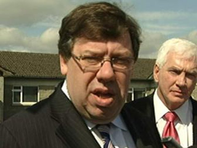 Brian Cowen - Drop in support for party