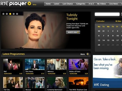 RTÉ player - Over 200 hours of programmes available to view