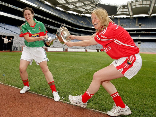 Mayo's Martha Carter and Mary O'Connor of Cork face each other in the semi-finals