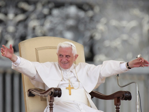 Pope Benedict - Suffered slight fracture to his right wrist