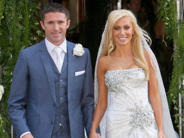 Robbie And Claudine Keane Pictured On Their Wedding Day Last June