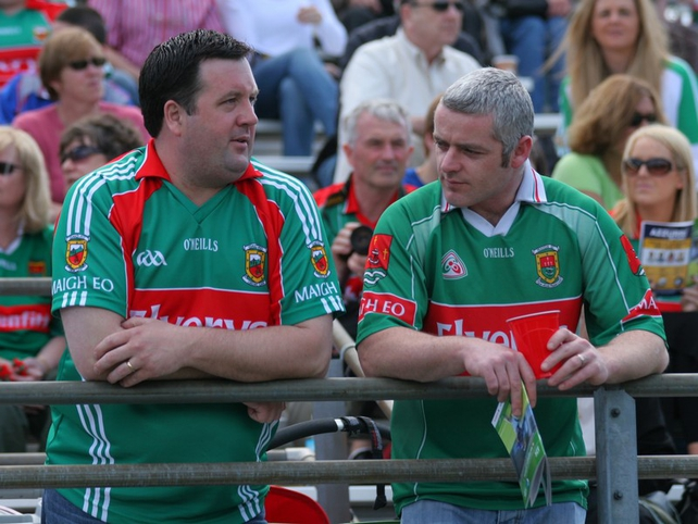 Mayo fans watch on in the New York sunshine