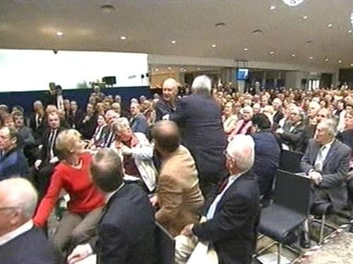 AIB EGM - Angry shareholders confront AIB board