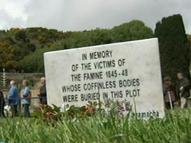 Famine Memorial Day - Mass grave of Famine victims