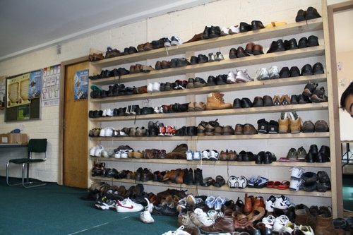 Shoe Rack at the Cork Mosque