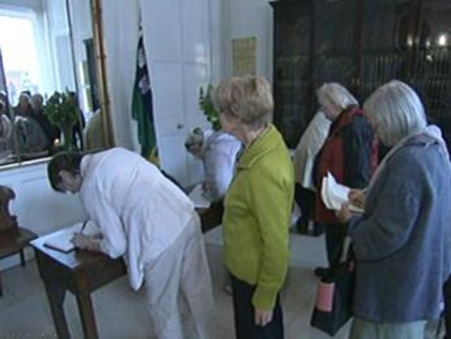 Dublin - Book of Solidarity opened