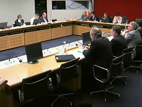 Committee hearing - Lenihan pressed on levy