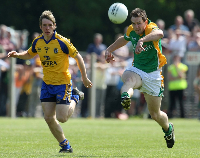 Roscommon's David Keenan in pursuit of Leitrim's Shane Canning