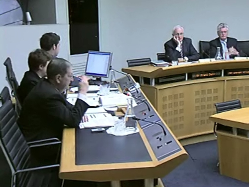 Oireachtas Committee - Anglo chairman before committee