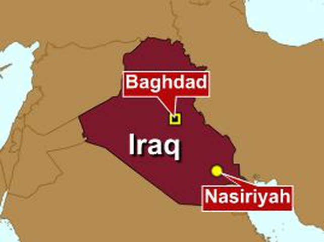 Iraq - Bomb blast in Nasiriyah