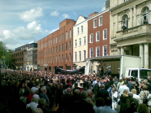 Dublin - March ended at Dáil
