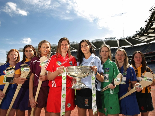 The captains of the eight counties particiapting in the Senior championship are pictured at today's launch at Croke Park.