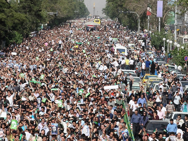 Tehran - Thousands take to the streets