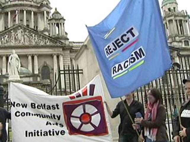 Belfast - Rally follows attacks