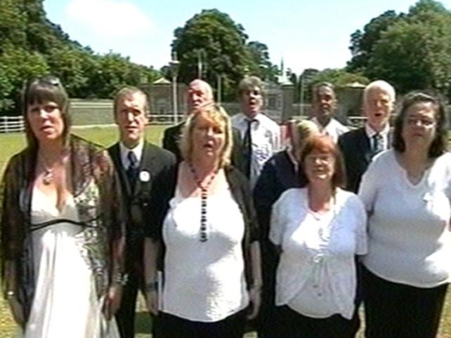 Áras an Uachtaráin - Choir sang at event