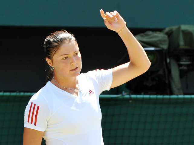 Dinara Safina suffered one of two shock defeats as the top seeds fell in Taiwan