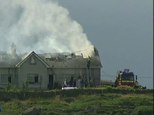 Gorumna Island  - House struck by lightning