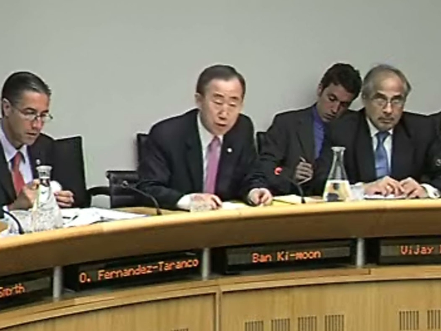 Ban Ki-moon - Attending Oireachtas Committee