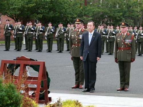 Ban Ki-moon - At McKee Barracks
