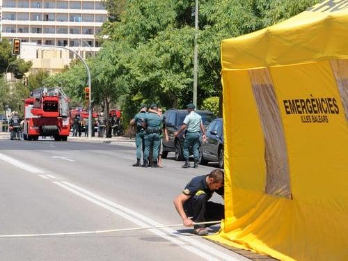 Majorca - Bomb blast in Palmanova
