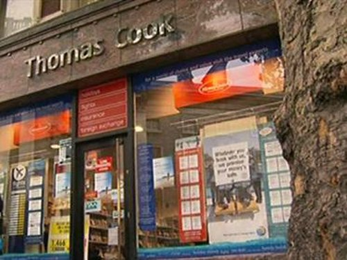 Dublin - Sit-in at Thomas Cook branch