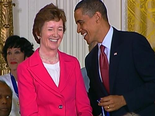 Mary Robinson - Honoured by President Obama