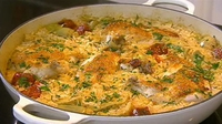 Chicken and Chorizo Rice Bake - Neven Maguire dishes up a delicious Chicken and Chorizo Rice Bake.