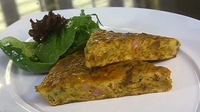Pancetta Frittata with Parmesan Cheese - A delicious light lunch from Neven Maguire.