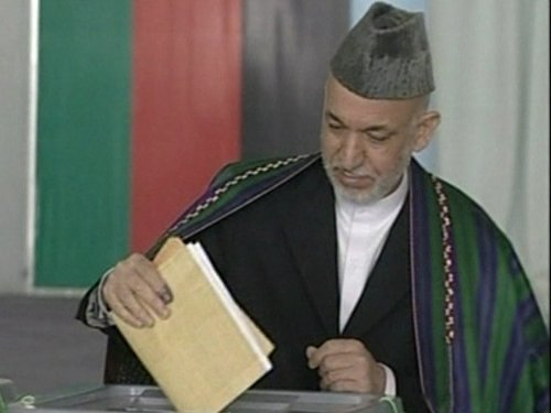 Hamid Karzai  - Election results are queried
