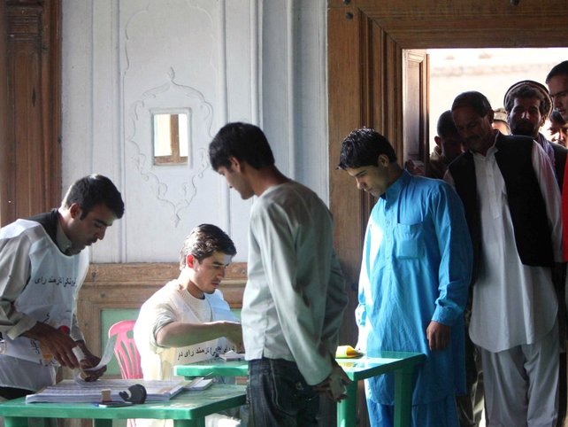 Afghanistan - 6,500 polling centres opened
