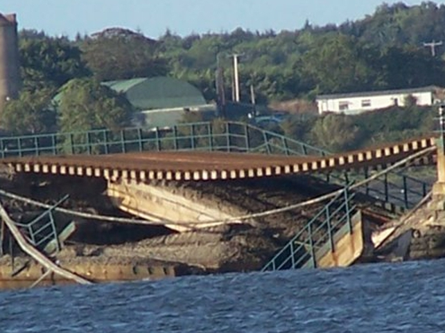 Malahide - Rail line collapse