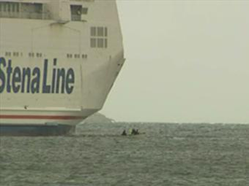 Dublin - Stand-off with Stena Line ferry