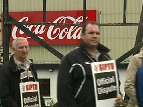 Coca Cola - Workers picketing since Thursday