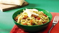 Pasta with Balsamic Tomatoes and Garlic - Try this traditional Italian dish from Garth McColgan, for Aldi.