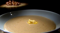 Chestnut Soup with Smoked Butter and Bacon Garnish - If you are really keen on preparing your soup from scratch, then the autumn is the time to buy fresh chestnuts.